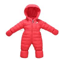 婴儿羽绒服男女宝宝0-1岁婴幼儿连体羽绒服6-12个9月男宝女宝冬装