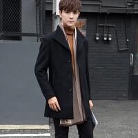 毛呢大衣男中长款韩版新款羊毛冬装修身青年英伦呢子风衣外套