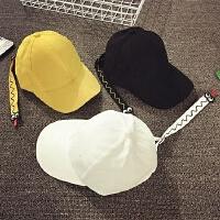 儿童鸭舌帽春秋长带子棒球帽男童潮韩版女孩遮阳帽冬遮阳帽小黄帽
