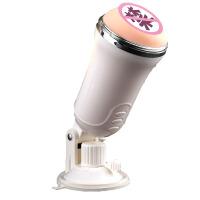 男用自卫全自动电动飞机杯自慰器夹吸高潮抽插情趣性用品TC 白色 飞机杯