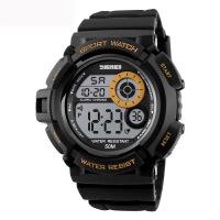 AOTU 时刻美丽 户外 运动 登山防水电子表时尚男士多功能学生手表