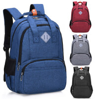 韩版小学生书包男孩双肩休闲旅行背包中学生书包高中时尚双肩包