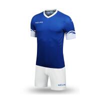 KELME卡尔美 873001 儿童波浪印花袖足球服套装 短袖纯色比赛训练服 足球组队服