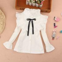 女童白�r衫春秋上衣�和��W生�r衫�r衣