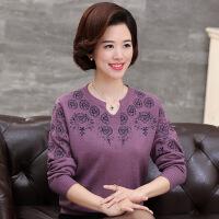 中老年女装秋装新款羊毛衫打底衫大码毛衣中年妈妈装套头针织衫