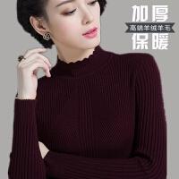2017新款秋冬打底毛衣女短款套头韩版修身百搭长袖羊绒加厚羊毛衫 S码 适合80-95斤