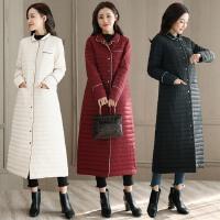 羽绒服女装中长款2017冬季新款韩版时尚气质保暖轻薄过膝白鸭绒服