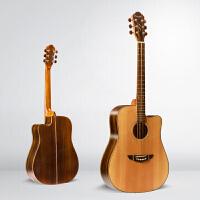 41寸单板吉他 民谣吉他 木吉他 弹唱演奏吉它面单吉他