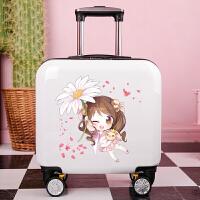 新款儿童拉杆箱粉色夏令营卡通定制Logo可爱公主小学生行李箱女孩 白色 雏菊女孩
