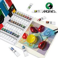 马利牌 丙烯颜料 手绘 初学者 儿童 石头画鹅卵石彩绘墙绘12色18色24色