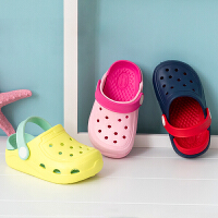 男童宝宝拖鞋夏1-8岁防滑软底婴幼儿凉拖鞋儿童洞洞鞋女童沙滩鞋小孩