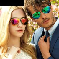 偏光太阳镜女蛤蟆镜开车太阳眼镜 潮人墨镜男近视驾驶镜炫彩镜