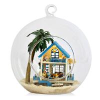 diy玻璃球小屋手工制作模型屋创意生日礼物送女拼装迷你房子玩具