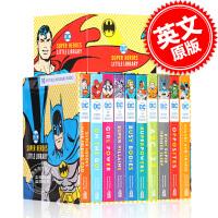 现货 DC超*英雄小小图书馆10册纸板书套装 英文原版 DC Super Heroes Little Library