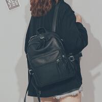 韩版软皮双肩包2019新款时尚百搭休闲简约pu皮女士背包旅行包书包