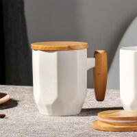 生日礼物情侣马克杯一对创意杯子复古陶瓷杯大容量水杯带盖北欧简约咖啡杯送女友送男友送朋友送女友