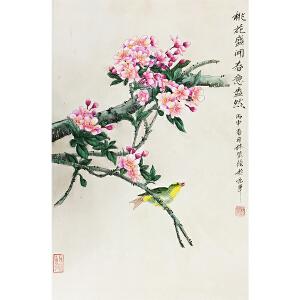 林莹《桃花盛开》著名画家