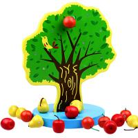 儿童玩具木制磁性苹果树 获奖玩具 学数数分苹果宝宝早教益智教具