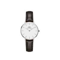 【网易考拉】DanielWellington 丹尼尔惠灵顿 DW手表女表新款32mm银色边白盘皮带女士手表学生手表 D