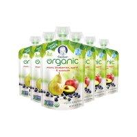 【网易考拉】6件装 Gerber嘉宝 婴幼儿有机梨蓝莓苹果牛油果泥2段6个月以上99g