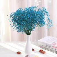 云南天然花蓝色满厅卧家室餐桌茶天居装饰客几摆设束星干花花 干树枝