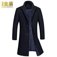 毛呢大衣男中长款韩版英伦风青中年妮子外套男士风衣羊毛呢子大衣