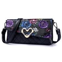 手拿包女手包秋季小包包新款女包小方包单肩包斜挎包h 玫瑰花
