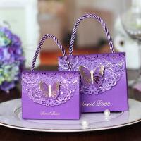 创意欧式喜糖盒子结婚纸盒手提糖果包装个性婚庆用品