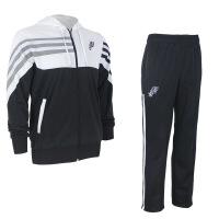 马刺训练服邓肯帕克球衣篮球出场服运动卫衣休闲套装男式 黑白色