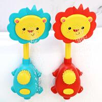 宝宝洗澡玩具喷水向日葵儿童戏水游泳乌龟花洒手动按压电动一体