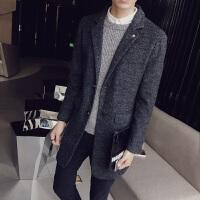 男士毛呢大衣中长款外套潮流韩版青年加厚呢子风衣男冬季修身男装