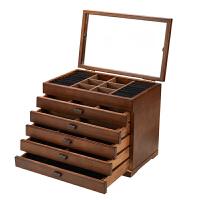 首饰盒木质 公主欧式饰品盒 多功能带镜子首饰收纳盒结婚生日礼物