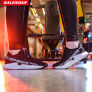 【限时特惠】Galendar情侣跑步鞋2018夏季新款男女轻便透气缓震运动休闲跑步鞋KMF87