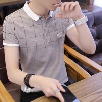 男士短袖t恤夏季修身翻领韩版潮流衬衫领夏天青年polo衫衣服汗衫