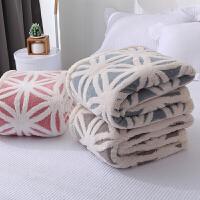 家纺毛毯被子加厚保暖珊瑚绒毯冬季法莱绒毯办公室小毛毯舒棉绒