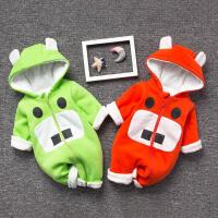 女婴儿连体衣服秋冬季0岁6个月男宝宝4冬装新生儿衣服加厚外出服