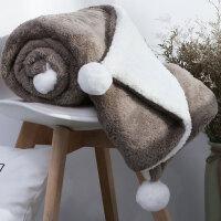 家纺冬季沙发毯盖毯珊瑚绒毛毯双层加厚羊羔绒毯子绒法兰绒小毛毯盖腿