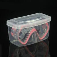 游泳眼镜盒 游泳眼镜盒方便携带泳镜盒透明收纳盒塑料大框泳镜大镜盒子HW