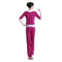 秋季热瑜伽 莫代尔升级面料舒适透气三件套女士瑜珈服