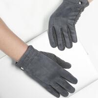 时尚新品加绒加厚男士手套韩版休闲开车骑行学生触摸屏手套 可礼品卡支付