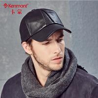 羊皮帽子男秋冬季真皮帽棒球帽中老年男士帽子冬款户外保暖鸭舌帽2571