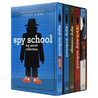 【首页抢券300-100】Spy School Top Secret Collection 间谍学校机密5册套装 儿童英