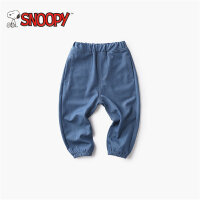 snoopy/史努比2018夏新款男女童装舒适牛仔七分裤LSN8M268