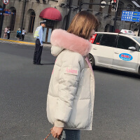 Freefeel 2018秋冬新款羽绒棉服女装上衣连帽时尚休闲毛领外套XY8805