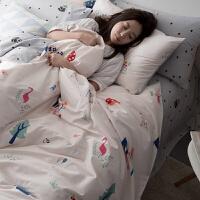 被套床上四件套 床单被罩枕套学生宿舍被单1米2单人床3三件套.
