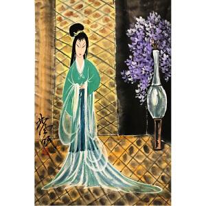 林风眠《婉纱图》著名画家