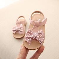 女童凉鞋2019夏季宝宝凉鞋公主学步鞋软底1-3岁小童沙滩鞋子幼儿