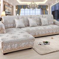欧式沙发垫防滑布艺四季通用靠背巾套子�f能全包套罩全盖夏天