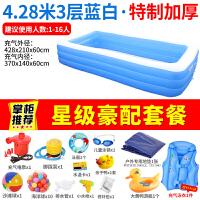 儿童充气游泳池 宝宝家用婴儿新生儿超大号水池家庭海洋球池