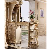 实木间厅柜 客厅吧台组合家用门厅玄关定制家具 酒柜隔断 间厅柜 香槟金 整装